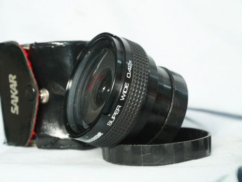 Camera Super Wide Angle 0.42x Series 7 Add On Lens c/w 46mm Adaptor Cased-Nice